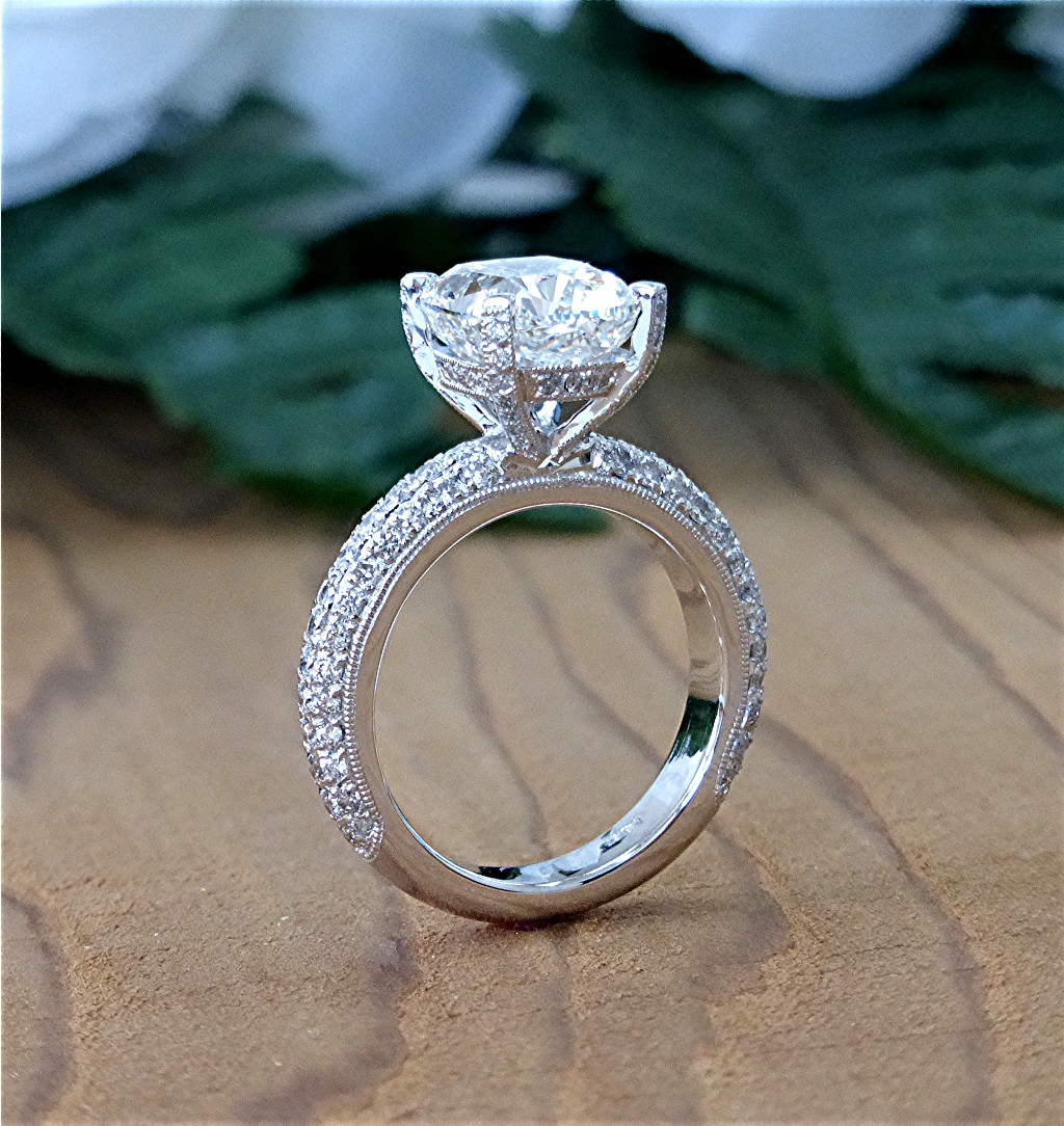 ring for diamond on sale bands used and rings wedding image