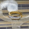 One carat 18k gold diamond band
