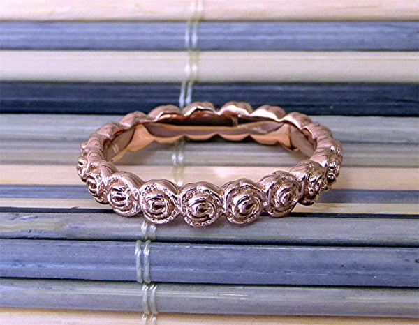 Flower Rose Gold Band