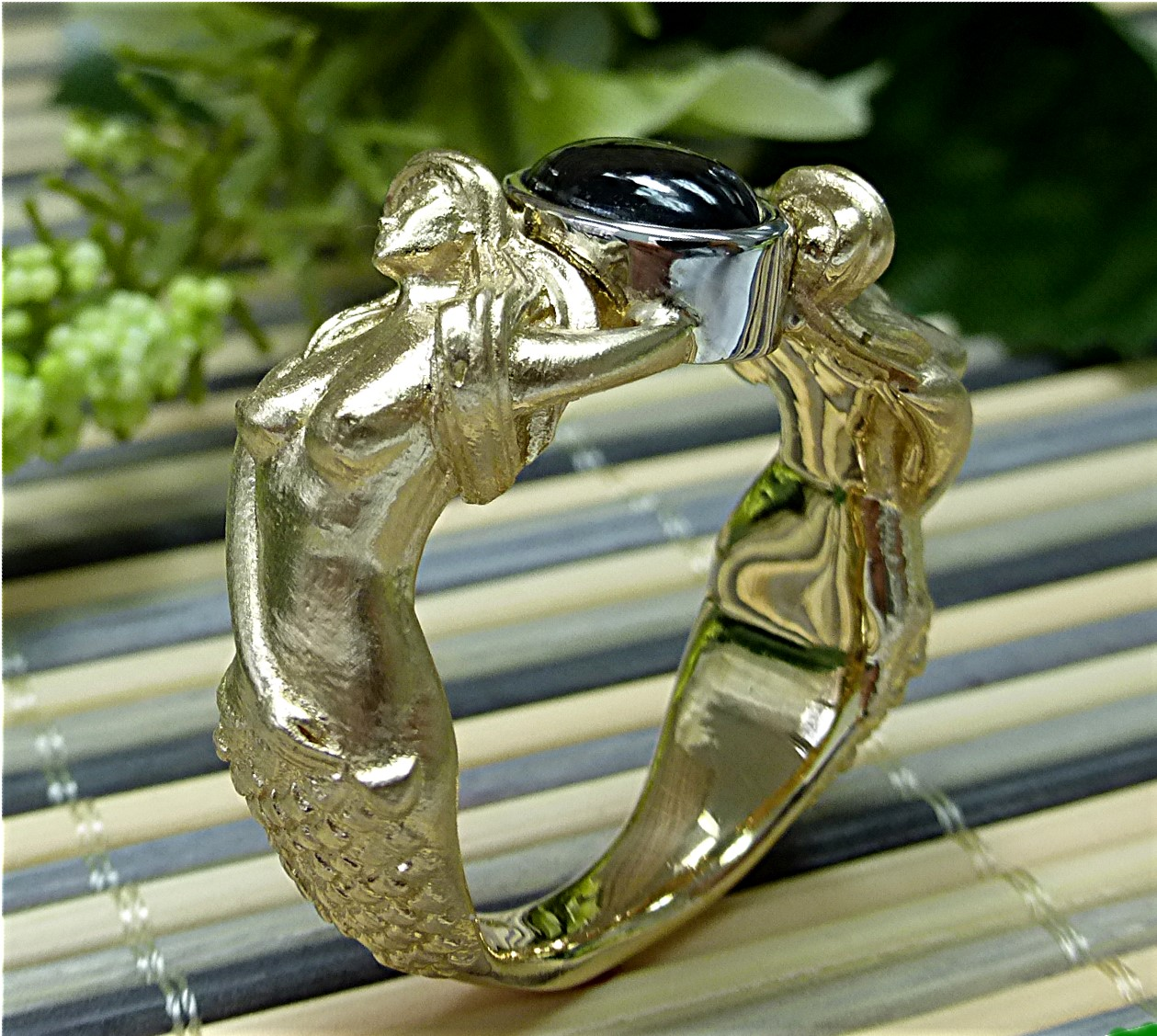 ring mermaid arden gallery white custom design engagement gold diamond rings jewelers jewelry