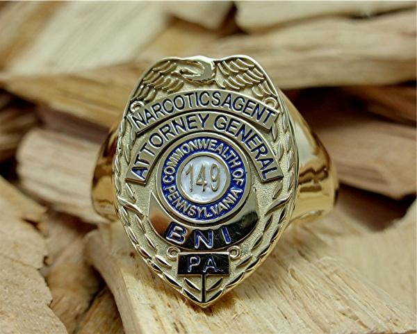 14k gold logo ring