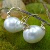 South sea pearl gold earring