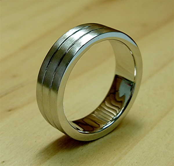 platinum men's ring