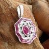 14k diamond and ruby pendant