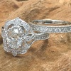 Oval diamond engagement ring set