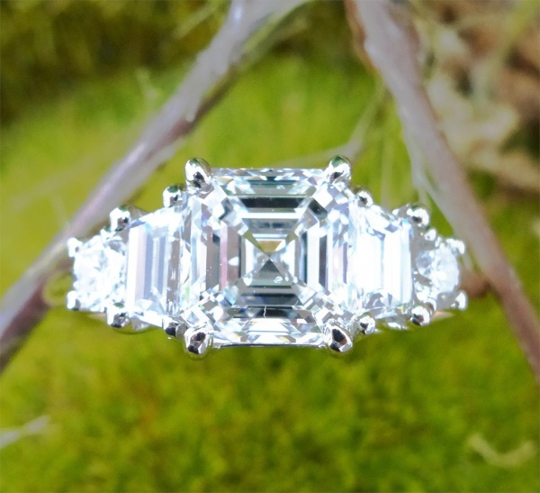2.33 carat diamond engagement ring