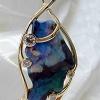 Larger free shaped opal pendant