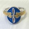 14k gold wing aviation ring