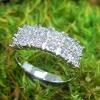 Illusion set two row diamond ring