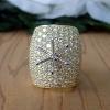 Extra wide 5ct. diamond semi mount ring