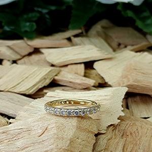 Three quarter carat diamond band