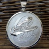 Three inches wide circle logo pendant