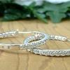 Five carat in-out hoop diamond earring