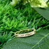 Hand engraved 18k gold band
