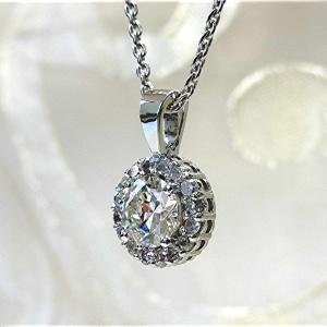 Classic Halo diamond pendant