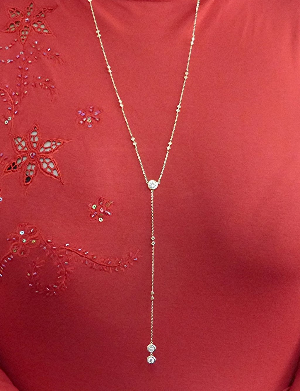 14k gold and diamond Laurent necklace