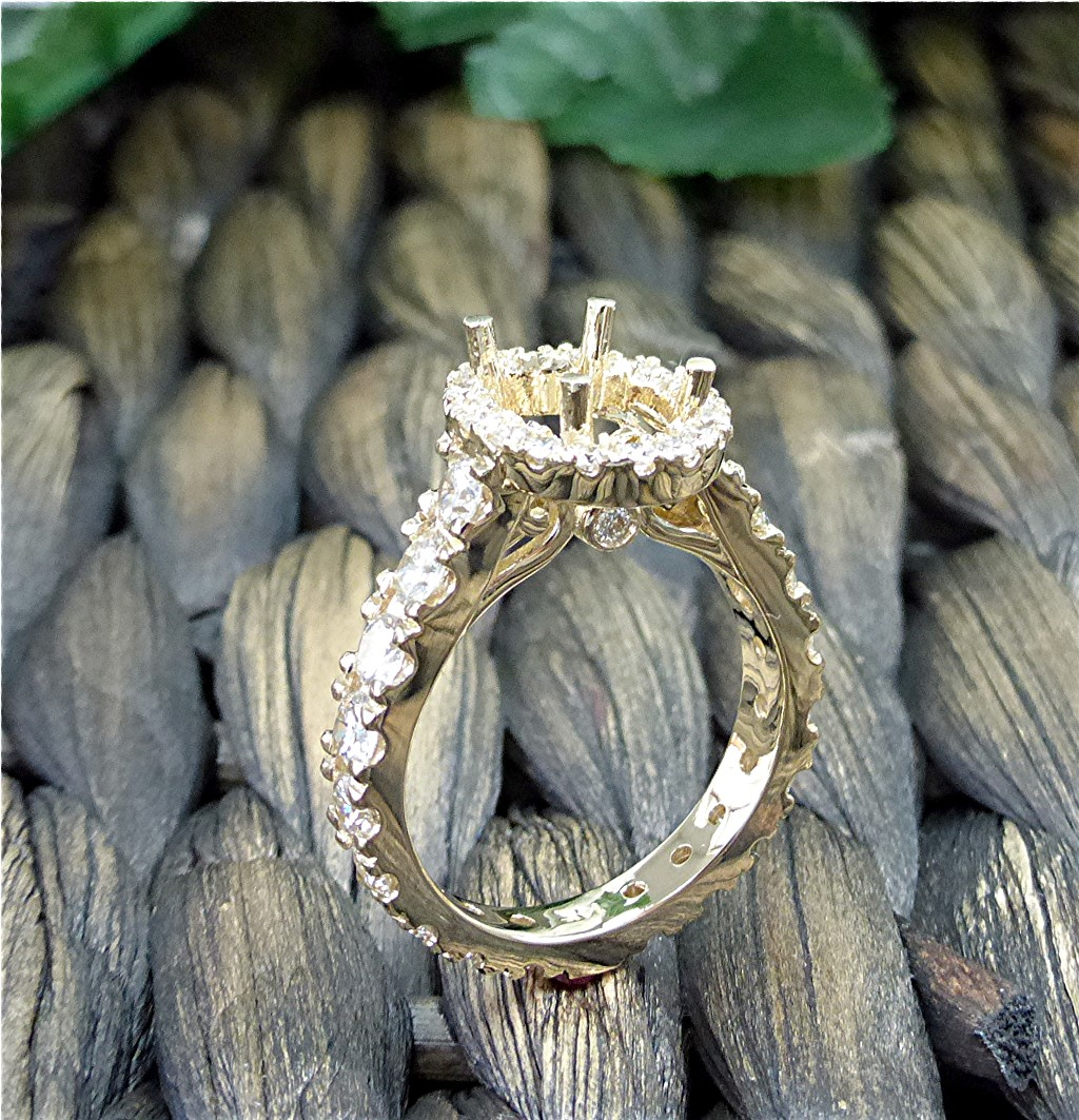 14k yellow diamond engagement ring semi mount