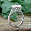 Four Carat Oval Diamond Engagement Ring