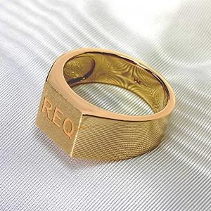 Square top mens signet ring
