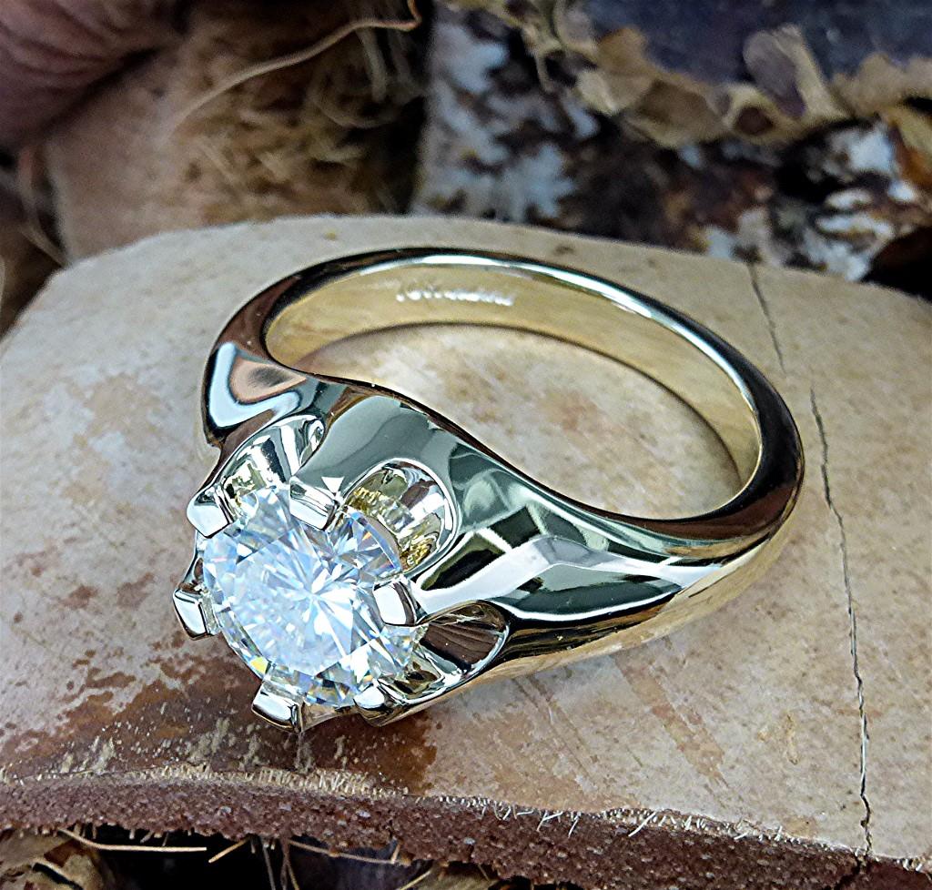 Solid Gold Mens Belcher Ring