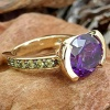 14k colored stone ring