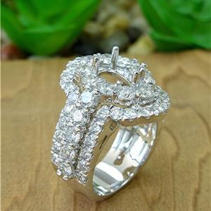 Three row diamond semi mount