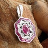 14k diamond and ruby pendant
