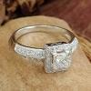 One carat Princess cut diamond engagement ring