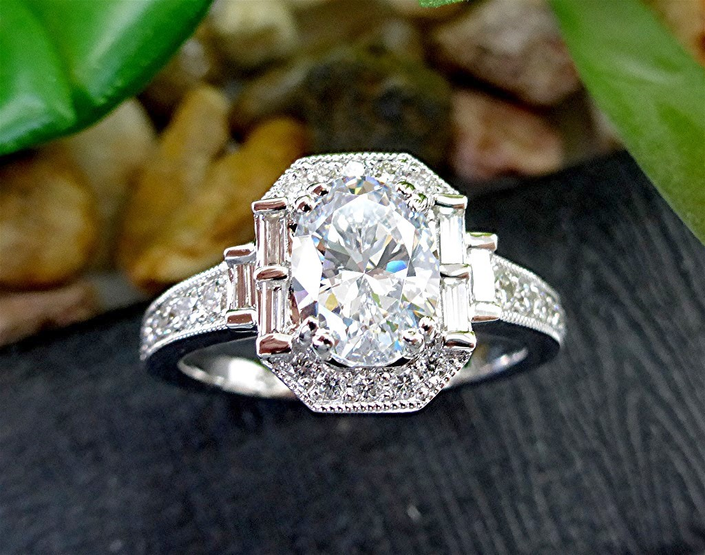 Diamond 14k engagement ring