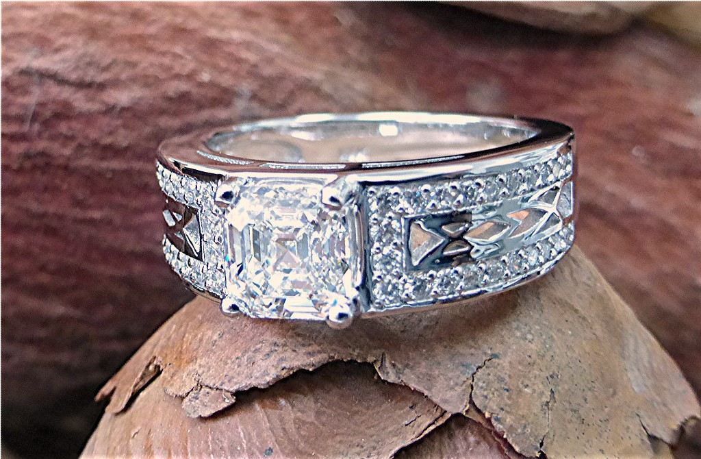 1.38 carat diamond engagement ring.