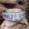 1.38 carat diamond engagement ring.