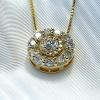 1.89 carat double halo pendant