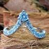 French set diamond matching band