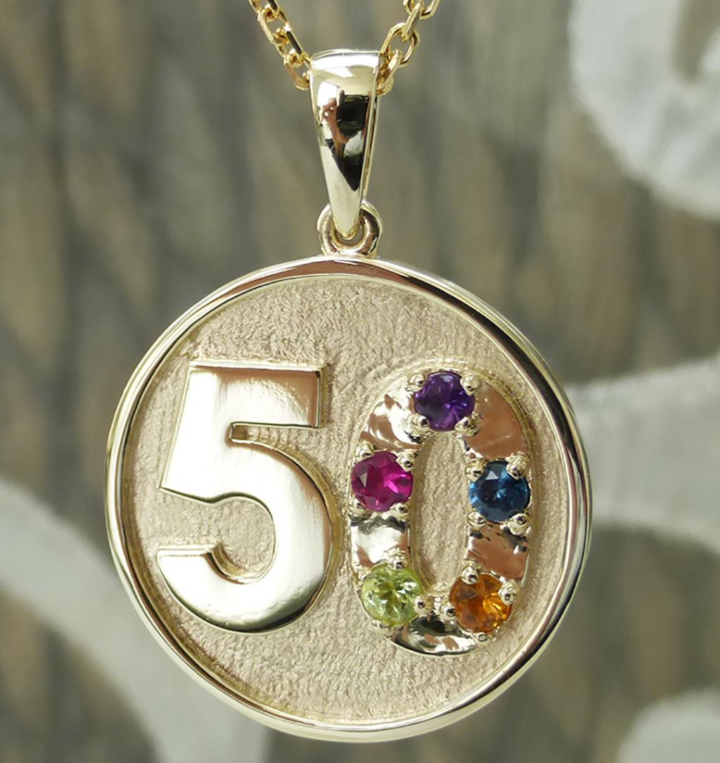 Fiftieth anniversary pendant