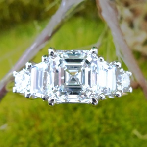 2.33 carat diamond engagement ring