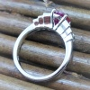 Burma ruby and diamond engagement ring