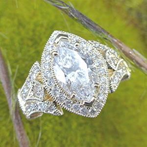 3.21 carat marquise diamond engagement ring