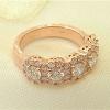 Five halo diamond ring