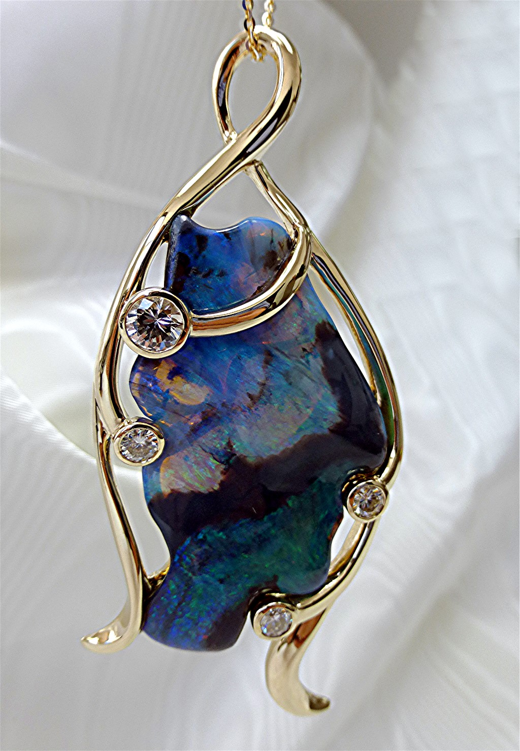 Larger free shaped opal pendant