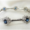 14k gold diamond and sapphire bracelet