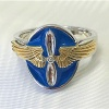 14k gold wing aviation ring